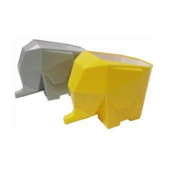 ช้างไล่น้ำเอนกประสงค์ รุ่น 1205 แพ็ค 2 ชิ้น (สีเทา+สีเหลือง)ที่วางช้อนส้อม ที่ใส่ช้อนส้อม ที่คว่ำช้อนส้อม ที่วางแปรงสีฟันที่วางดินสอปากกา
