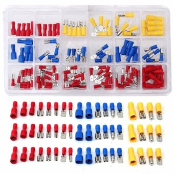 120Pcs Assorted Insulated Electrical Wire Terminal Crimp Connector Spade Set Kit - intl