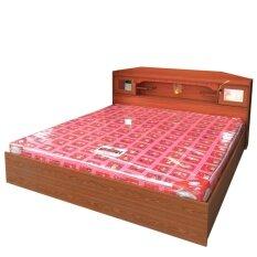 1deelert เตียง promotion ขนาด 6 ฟุต + ที่นอนโฟมฟองน้ำ (สีสัก)
