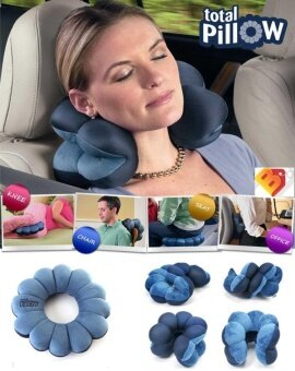 Harga 1pc Comfortable Total Pillow Amazing Versatile Neck Massage PlumFlower Pillow Cushion as Seen on TV - intl