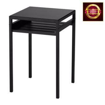 เปรียบเทียบราคา โต๊ะข้างท็อปเปลี่ยนสีได้(ใช้ได้ 2 ด้าน) สีดำ/เบจ 40x40x60 ซม.