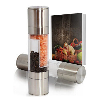 Harga 2 In 1 Stainless Steel Salt & Pepper Mill