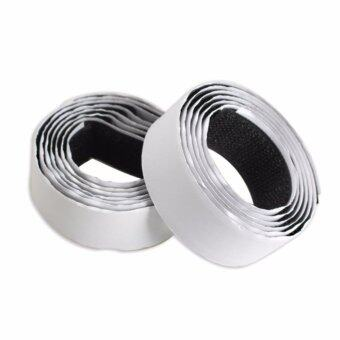 2 Rolls Strong Self Adhesive Magic Hook Loop Fastener Tapecolor:black size:1m - intl