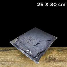 ถุงซิปรูด ถุงใส่เสื้อผ้า ขนาด25x30cm