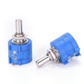 2PCS 3590S 10K 3590S-2-103L 10k Ohm 10 Turn Variable Resistor Potentiometer Blue - intl