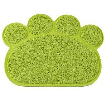 30 x 40CM Pet Small Dog Cat PVC Paw Shape Mat Dish Dinner Food\nSleeping Pad Green