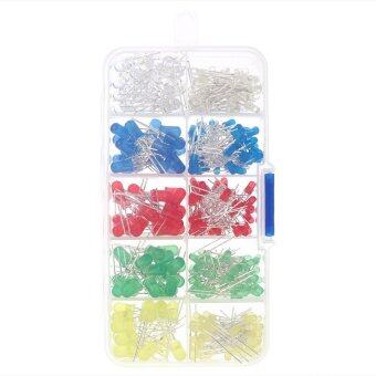 Harga 300pcs 3mm 5mm Assorted Color 2-pin Diffused LED Light Emitting Diodes Set with 5 Colors Electronic Components - intl
