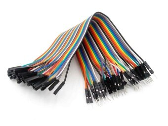 Harga (30cm)40pcs in Row Dupont Cable 30cm 2.54mm 1pin 1p-1p Female toMale jumper wire - intl