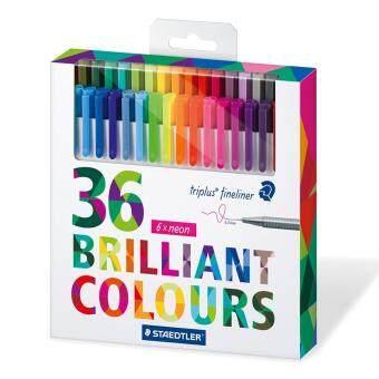 ชุดปากกาสีเมจิกไร้สารพิษจากเยอรมันนี 36 สี NON-Toxic Staedtler Triplus fineliner 36 brilliant colors 0.3 มม.