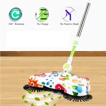 360° Automatic Hand Push Sweeper Broom Household Cleaning No Electricity Cleaner
