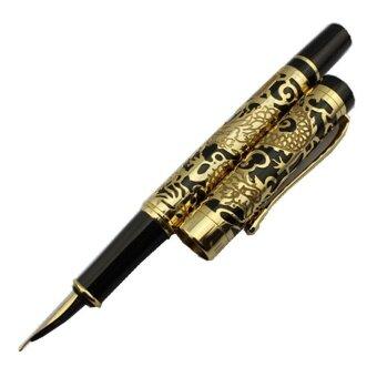 ปีมะโรง 360DSC Jinhao 5000 ปากกาหมึกซึมโกลเด้นกับสีดำ 18KGP ไซส์กลางปลาย-สีดำ - 2