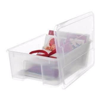 อยากขาย กล่องใสพร้อมฝาปิด กล่องเก็บของอเนกประสงค์ ขนาด39x28ซม.สุง14ซม.HappyHome