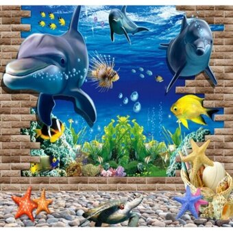3D three-dimensional wall stickers wallpaper wall stickers - intl