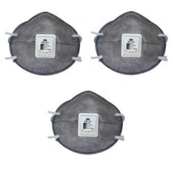 3M หน้ากากป้องกันฝุ่นไอระเหย 3M รุ่น9913V ชนิดไม่ต้องบำรุงรักษา จำนวน 3 ชิ้น