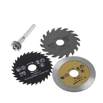 3pcs 54.8mm HSS Mini Circular Saw Blade Cutting Blade Rotary Toolfor Wood Steel Cutting - intl
