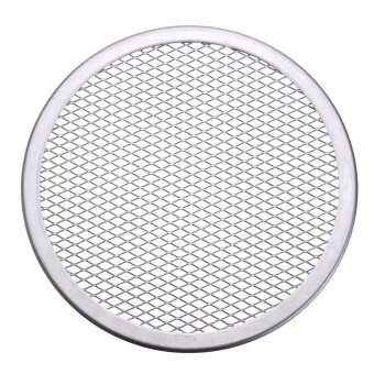 3pcs Seamless Rim Aluminium Mesh Pizza Screen Baking Tray Net Bakeware Cooking Tool 8'' - intl