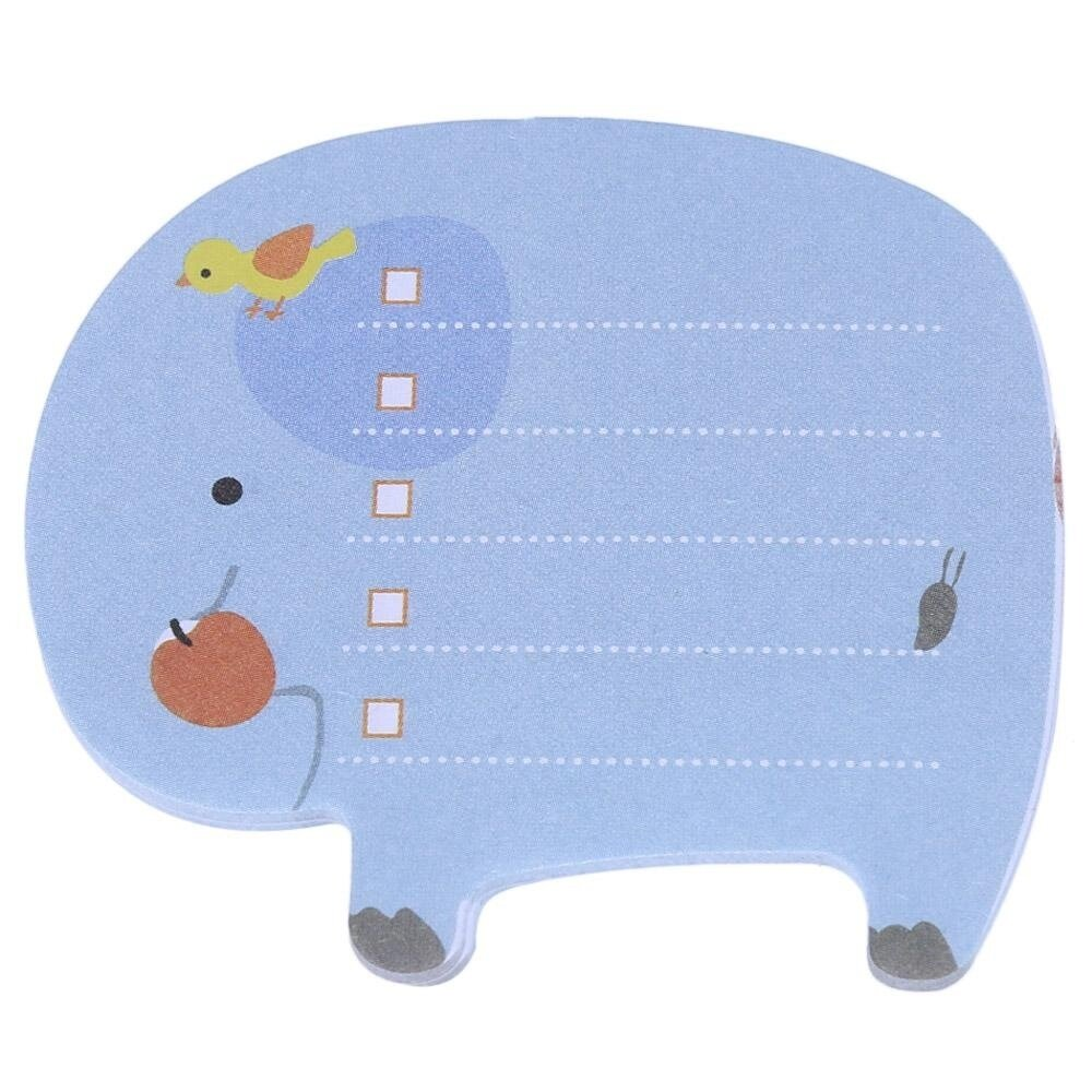 Hot Deal 3Pcs ZOO Animal Park Sticky Paper Memo Pad Sticker (Colormix) - intl
