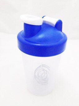 แก้วเชค ถ้วยเชค เชคเกอร์ ขนาด 400 ml สำหรับผสมโปรตีนและชงอาหารเสริม - สีน้ำเงิน