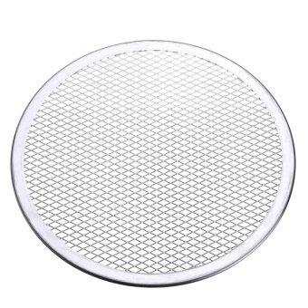 4pcs Seamless Rim Aluminium Mesh Pizza Screen Baking Tray Net Bakeware Cooking Tool 10'' - intl