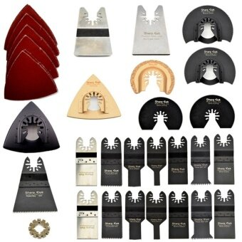 50 pcs/set Oscillating Tool Saw Blades Accessories kits fit for Multimaster power tools Multi Tool Saw blades kits - intl