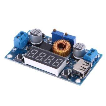 5A Step-Down โมดูลพร้อมจอแสดงผลแรงดันไฟฟ้าขาเข้า 5.0 โวลต์-38 โวลต์เอาต์พุต \n 1.25V-32V