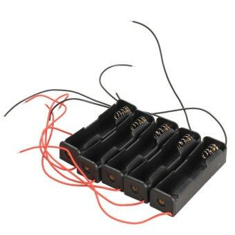 5X Single Slot 18650 Mobile Clip Case Holder with Wire Leads DIY - 2