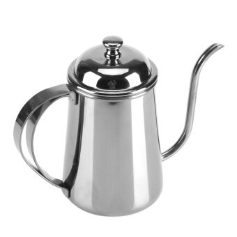 650ML Stainless Steel Gooseneck Spout Kettle Pour Over Coffee TeaHome Brewing Drip Pot Silver - intl - 3