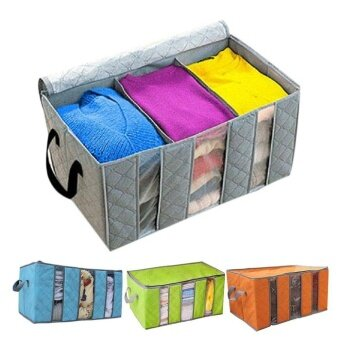 65L Home Closet Storage Bag Organizer Box Anti-bacterial Clothes Finishing Bag - intl