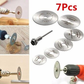 Harga 6x HSS Circular Wood Cutting Saw Blade Discs + 1x Mandrel Drill ForRotary Tool - intl