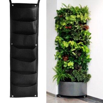 7 Pocket Hanging Vertical Garden Planter Indoor Outdoor Herb PotDecor   Intl
