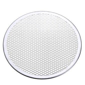 7pcs Seamless Rim Aluminium Mesh Pizza Screen Baking Tray Net Bakeware Cooking Tool 10'' - intl