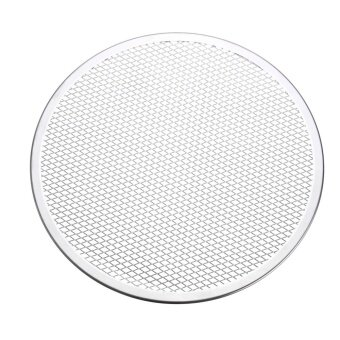 7pcs Seamless Rim Aluminium Mesh Pizza Screen Baking Tray Net Bakeware Cooking Tool 12'' - intl