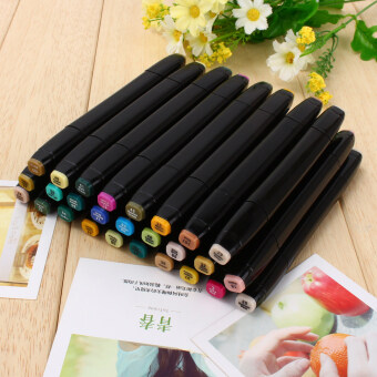 80 Colors Sets Touch Five Alcohol Graphic Art Twin Tip Pen MarkersBroad Fine Point(Black bar)