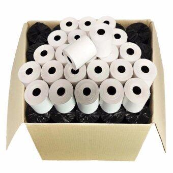 กระดาษความร้อน สำหรับพิมพ์ใบเสร็จ ขนาด 80 mm x 80 mm แพ็ค 50 ม้วน