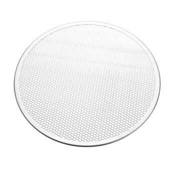 8pcs Seamless Rim Aluminium Mesh Pizza Screen Baking Tray Net Bakeware Cooking Tool 14'' - intl