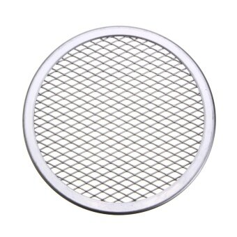 8pcs Seamless Rim Aluminium Mesh Pizza Screen Baking Tray Net Bakeware Cooking Tool 6'' - intl
