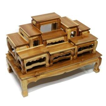 โต๊ะหมู่บูชาพระ (ไม้สักทอง) หมู่ 9 หน้า 4 สีใส
