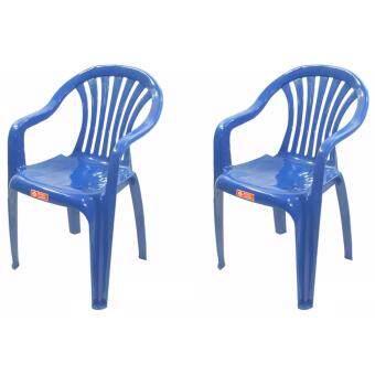 รีวิว เก้าอี้สนาม มีพนักพิง และ ที่เท้าแขน รุ่น 999 สีน้ำเงิน แพ็ค2ตัว