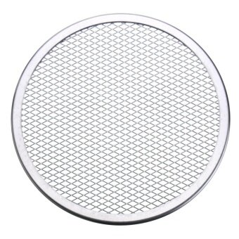 9pcs Seamless Rim Aluminium Mesh Pizza Screen Baking Tray Net Bakeware Cooking Tool 9'' - intl