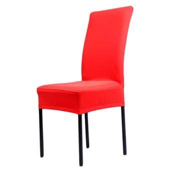 รีวิวพันทิป A1 Piece colors Solid Polyester Spandex dining chair covers forweddings chair coversdining chair chair covers (Intl)