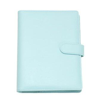 A6 Planner Agenda Synthetic Leather Loose Leaf Diary Weekly Notebook + 40 Sheets Blue - intl