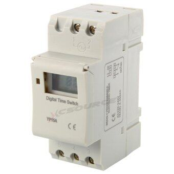 สวิทช์ไฟตั้งเวลา AC 220-240V Digital LCD Power Programmable DIN Timer Time Switch Relay 16A
