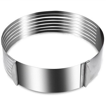 Adjustable Round Stainless Steel DIY Mousse Cake Ring Mold Layer Slicer Cutterse Cake Cutter Household Cake Mold Kitchen Aid Baking Tool - intl - 2