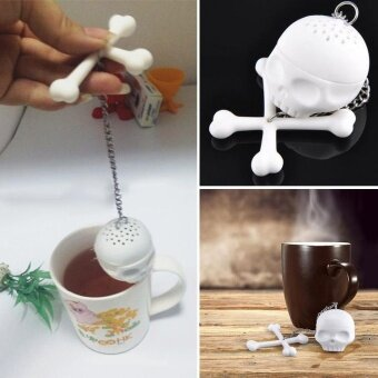 ADS Creative Design Drink Utensil Skull Teapot Infuser Loose Tea Bag Coffee Leaf Mug Strainer Filter Herbal Spice - intl
