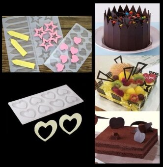 ADS Practical High-quality Hot Sell Silicone Chocolate Fondant Cake Mold Decorating Tool Sugarcraft Baking Decor - intl