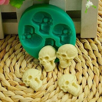 ADS Practical High-quality Hot Sell Skull Head Silicone Cake Mould Chocolate Baking Mold Halloween Health Tool - intl