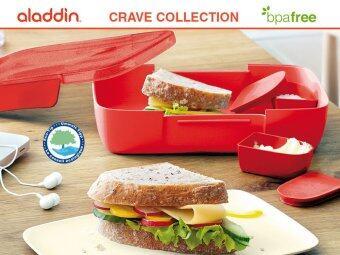 รีวิวพันทิป ALADDIN กล่องใส่แซนวิช รุ่น CRAVE (สีแดง)