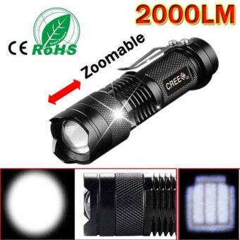 Alpha ไฟฉายความสว่างสูง LED CREE Q5 2000 lumens ซูมได้ มีโหมดไฟกระพริบฉุกเฉิน