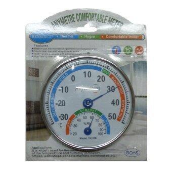 Anymetre เครื่องวัดอุณหภฺมิ + ความชื้น 2in1 แบบพกพา รุ่น TH101B(Silver)