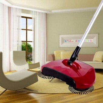 Automatic Hand Push Sweeper Magic Spinning Broom Household Cleaning No Electric